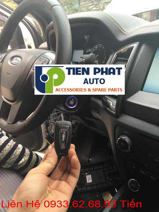Gắn Engine Start Stop Smart Key Chìa Khóa Thông Minh Chất lượng Cao Cho Ford Ranger Đời 2015