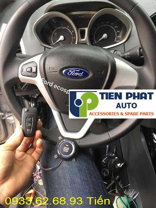 Lắp Đặt Engine Start Stop Smart Key Chìa Khóa Thông Minh Cho Xe Ford Ecosport Đời 2014 Tại Tp.Hcm