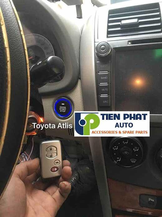 Lắp Đặt Engine Start Stop Mart Key Chìa Khóa Thông Minh Zin Theo Xe Toyota Altis 2012-2016