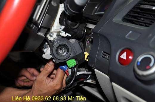 Lắp Đặt Engine Start Stop Smart Key Chìa Khóa Thông Minh zin Theo Xe Honda Civic 2012 Tại Tp.Hcm Uy Tín Nhanh