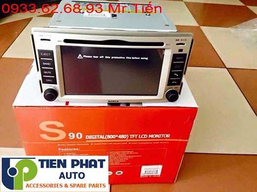 Lắp Màn Hình DVD Cho Huyndai Santafer Máy Xăng Đời 2010 Tại Tp.Hcm