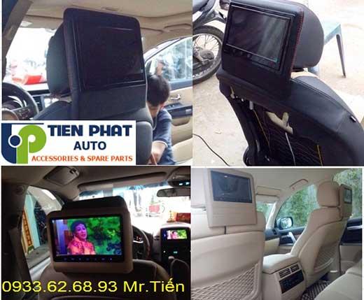 Lắp Màn Hình Gối Đầu Sau Ghế Cho Xe Mitsubishi Pajero sport